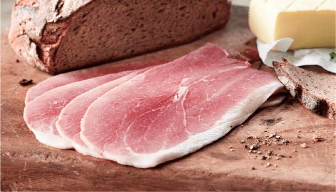 Basedahl Schinken mit Brot und Butter